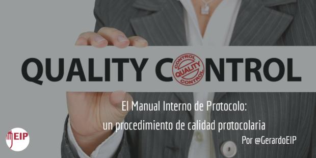 El procedimiento de calidad protocolaria